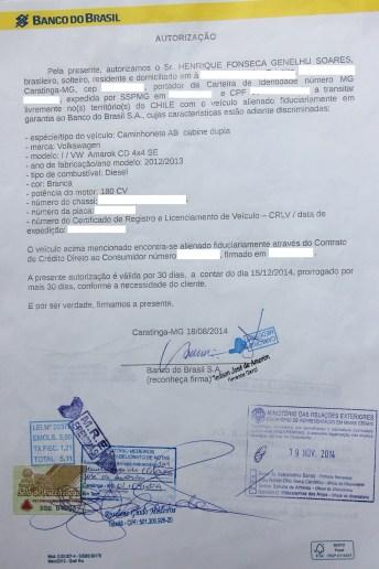Autorização do Chile