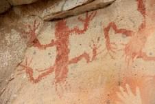 A figura representa um lagarto típico desta região, que também servia de alimento para os nômades