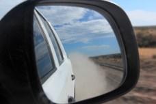 As estradas de rípio levantam muita poeira, Península Valdés