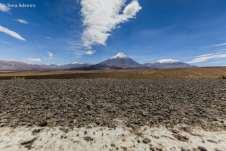 O imponente vulcão Licancabur