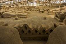 As ruínas de Chan-Chan, a antiga capital do império Chimu