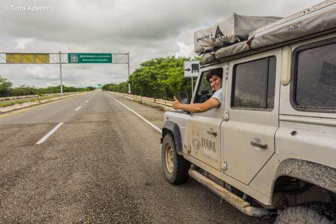 Nossa entrada no Equador.