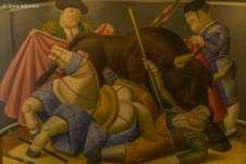 Uma das obras mais icônicas de Fernando Botero, a Vingança do Touro.