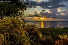 Pôr do sol inesquecível, bem na frente de nosso camping