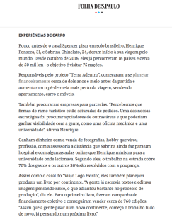 Entrevista para a Folha de Sao Paulo 2