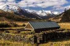 Paisagens características das fazendas pelas Highlands da Escócia