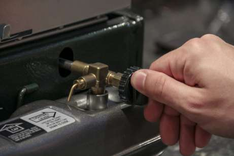 A válvula que regula a intensidade da chama