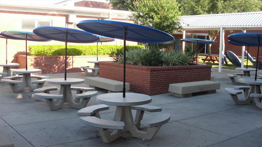 42 round concrete picnic table