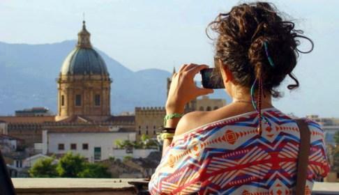 Vista sul Centro storico di Palermo dalla Terrazza della Torre di San Nicolò all'albergheria