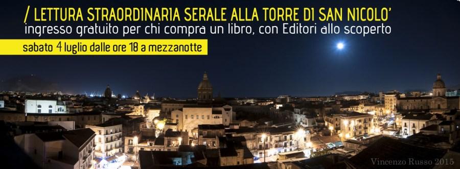 /Lettura straordinaria serale alla Torre di San Nicolò, con Editori allo scoperto fino a mezzanotte