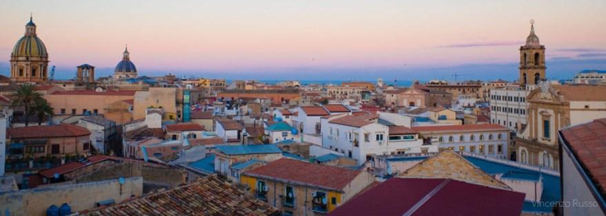 vista sul centro storico di Palermo dal campanile di Santa Chiara
