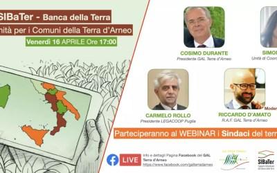"WEBINAR – Progetto SIBaTer ""Banca della Terra"""