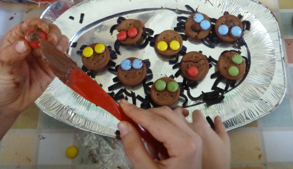 biscotti ragno halloween
