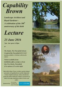 Capability Brown lecture poster JPEG