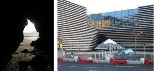 V&A Dundee and possible inspiration at Lunan Bay