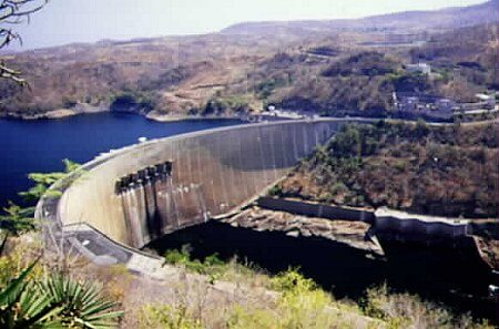 The Magnificent Kariba Dam Wall Across the Zambezi River