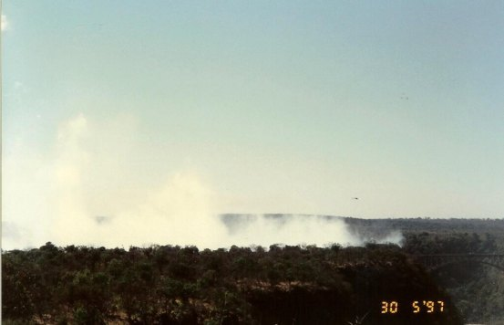 Spray from Victoria Falls and the roar can be seen & heard for miles.