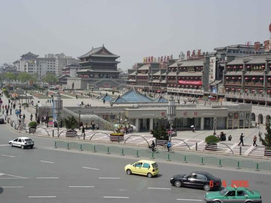 View-from-Bell-Tower-Hotel-Xian Shaanxi Province