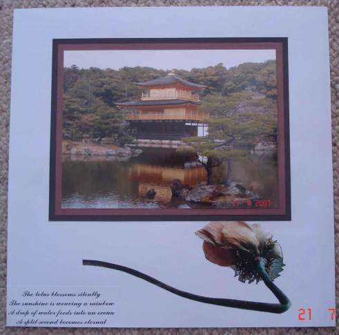 Scrapbooking-Designs and layouts - Water Lilies and lotus blossoms