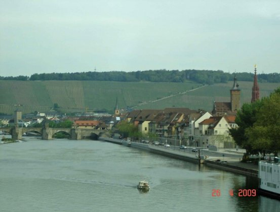 View Main-River-Wurzburg Bavaria Germany