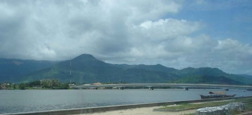 New Bridge across the Kampong River Kampot