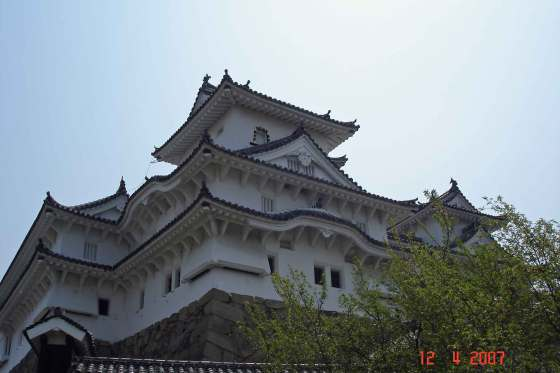 Elegant curves and upturned eaves Himeji castle