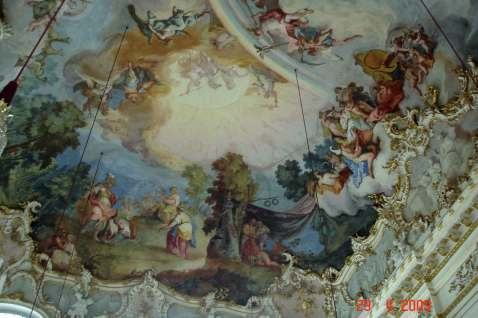 Ceiling fresco-Nymphenburg Palace Romantic Road