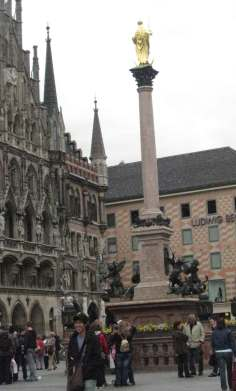 Bavarian Monument in honor of the Virgin Mary-romantic road Germany