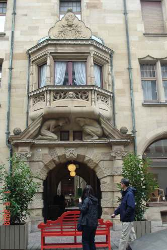 Sandstone-arch-and-Oriel-Window-Konstanz-romantic road Germany