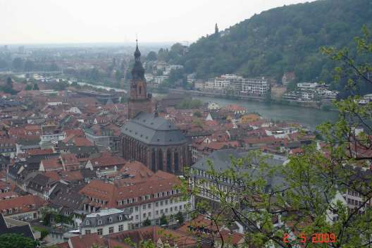 From Heidelberg castle  Church of the Holy spirit-Heidelberg