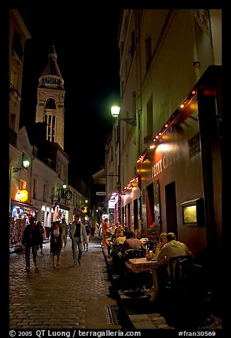 Picture/Photo: Dinners and narrow pedestrian street at ...