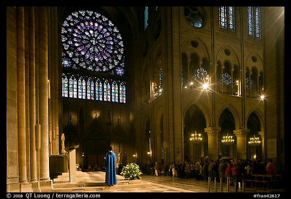 Picture Photo Catholic Mass Celebration Paris France