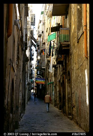 PicturePhoto Narrow Side Street In Spaccanapoli Naples