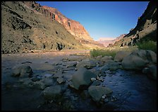 Bottom of Grand Canyon with Tapeats Creek joining  Colorado River. Grand Canyon National Park ( color)