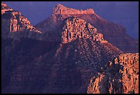 Towers seen from Point Sublime, sunset. Grand Canyon National Park ( color)