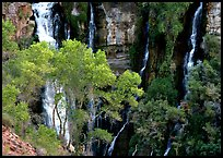 Thunder river lower waterfall, afternoon. Grand Canyon National Park ( color)
