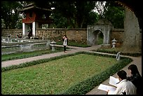 Gardens of the temple of Litterature. Hanoi, Vietnam