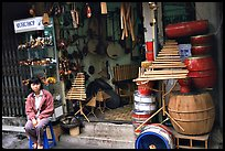 Traditional music instruments for sale. Hanoi, Vietnam