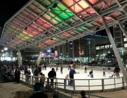 Ice Skaing at Veterans' Plaza