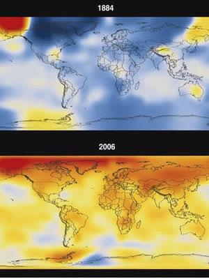 Global warming, 1884 to 2006