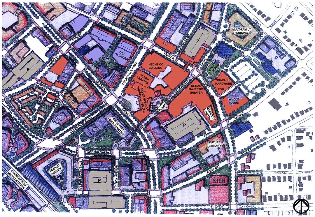 Downtown Silver Spring site plan