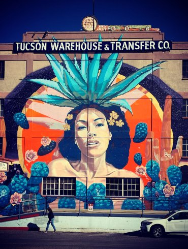 Mural on the side of Tucson Warehouse & Transfer Co.