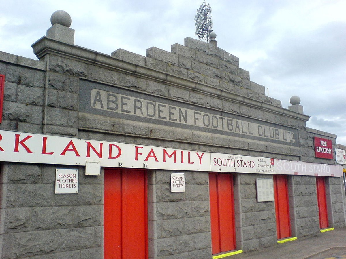 Aberdeen Football Club stadium entrance.