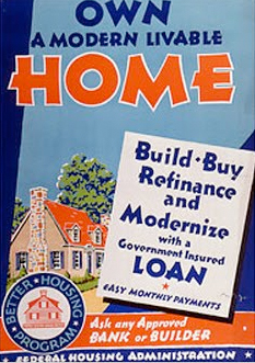 1930s Federal Housing Administration poster