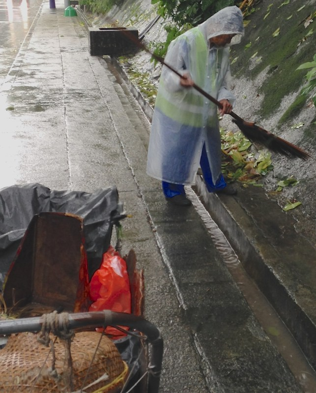 Slope drainage maintenance is critical in typhoon-prone Hong Kong.