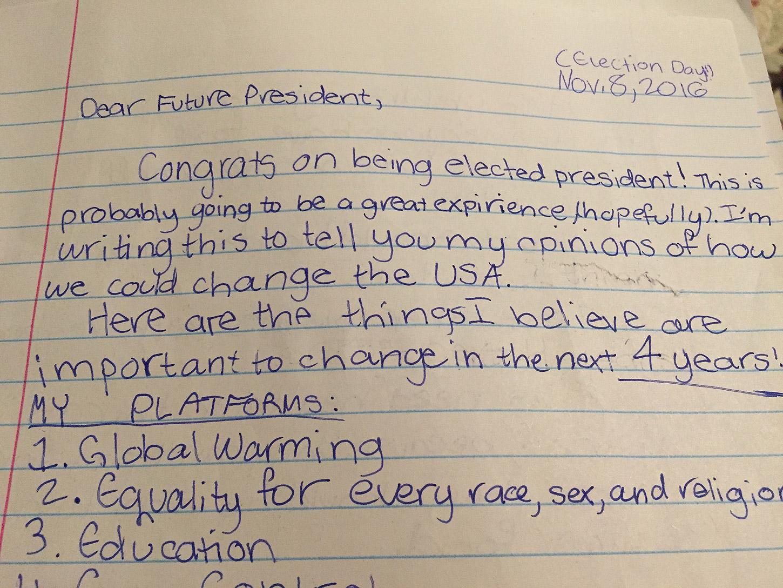 Letter To America Letter To The Future President Terrain Org