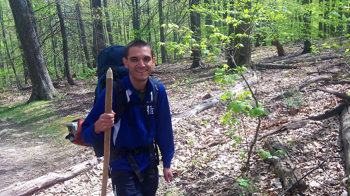 Edward Schuyler Chew on the trail