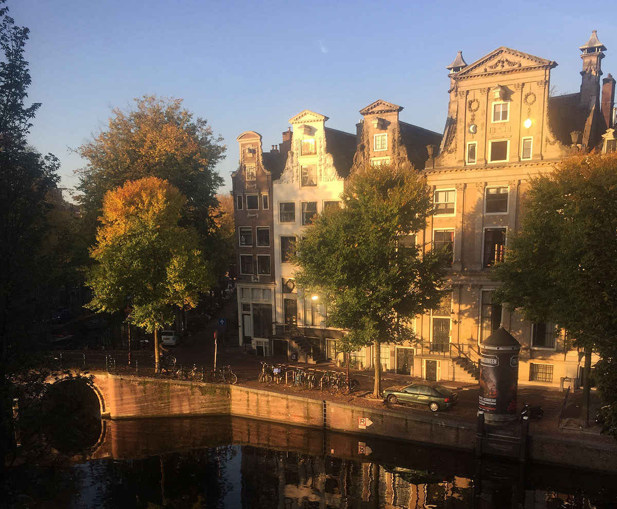 Amsterdam canal street and residences