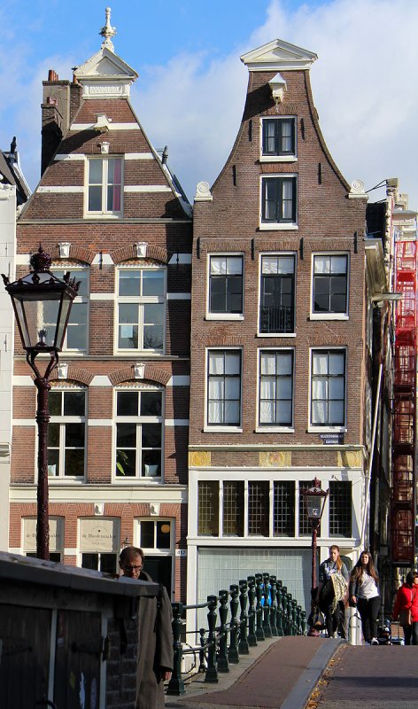 Amsterdam houses with large windows