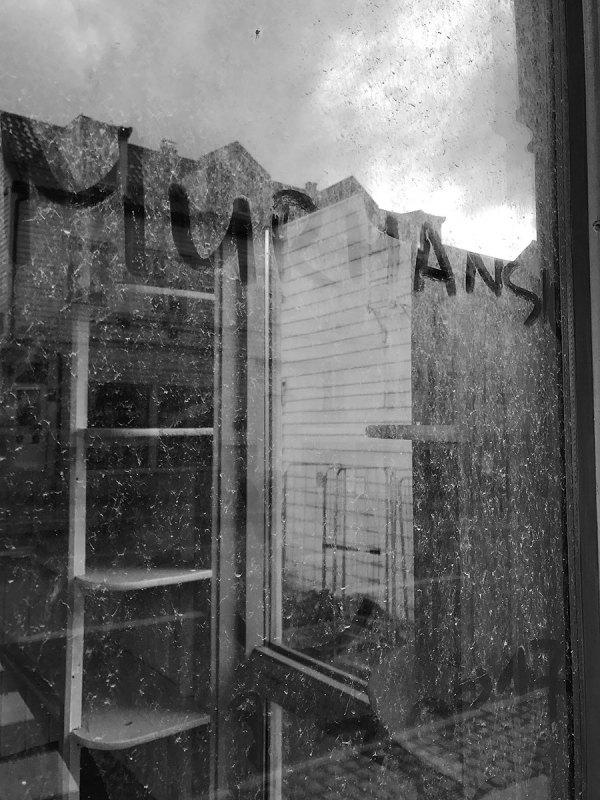 Photo of window with Murmansk written on it by Alisa Slaughter